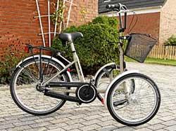 T-Bike für Menschen mit Behinderung beim Fahrradverleih Klattenberg in Neuharlingersiel